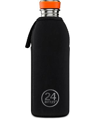 24Bottles Neoprene Thermal Cover for 500 ml Urban Bottle - Black Thermos Bottles