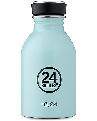 24Bottles Stainless Steel Urban Bottle, 250 ml - Cloud Blue Metal Bottles