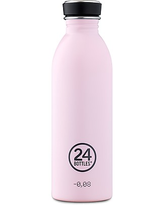 24Bottles Stainless Steel Urban Bottle, 500 ml - Candy Pink Metal Bottles