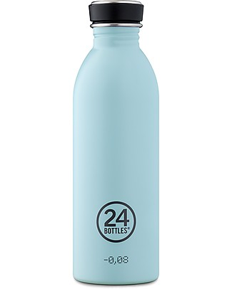 24Bottles Stainless Steel Urban Bottle, 500 ml - Cloud Blue Metal Bottles
