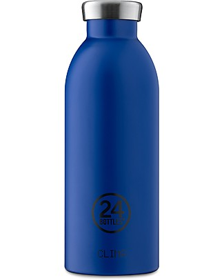 24Bottles Thermal Stainless Steel Clima Bottle, 500 ml - Gold Blue Thermos Bottles