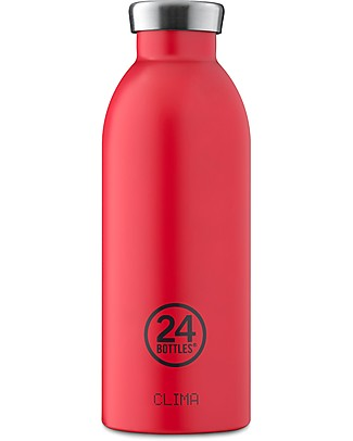 24Bottles Thermal Stainless Steel Clima Bottle, 500 ml - Hot Red Thermos Bottles