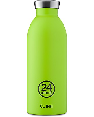 24Bottles Thermal Stainless Steel Clima Bottle, 500 ml - Lime Metal Bottles
