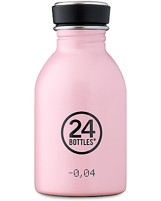 24Bottles Urban Bottle for Kids, 250 ml - Candy Pink Metal Bottles