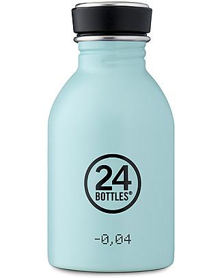 24Bottles Urban Bottle for Kids, 250 ml - Cloud Blue Metal Bottles