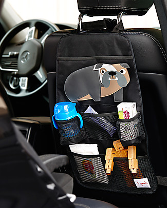 3 Sprouts Backseat Organizer, Bulldog - Universal, 56 x 33 cm Car Seat Accessories