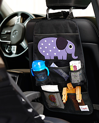 3 Sprouts Backseat Organizer, Elephant - Universal, 56 x 33 cm Car Seat Accessories