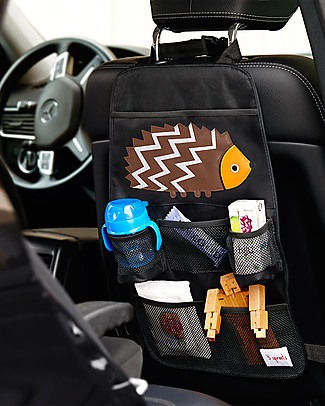 3 Sprouts Backseat Organizer, Hedgehog - Universal, 56 x 33 cm Car Seat Accessories