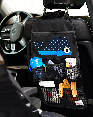 3 Sprouts Backseat Organizer, Whale - Universal, 56 x 33 cm Car Seat Accessories