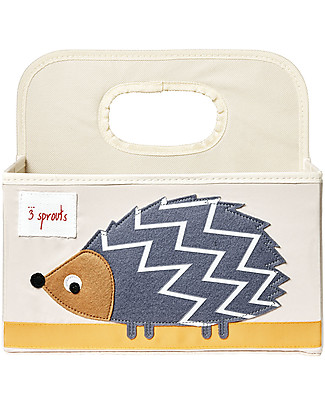 3 Sprouts Diaper Caddy - Grey Hedgehog - Cotton canvas Changing Tables