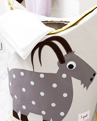 3 Sprouts Goat Laundry Hamper - No more mess, and lots of cuteness! Toy Storage Boxes