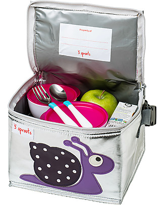 3 Sprouts Insulated Lunch Box - Snail Lunch Boxes
