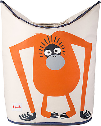 3 Sprouts Laundry Hamper Orangutan - No more mess, and lots of cuteness! Toy Storage Boxes