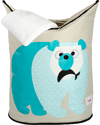 3 Sprouts Laundry Hamper Polar Bear - No more mess, and lots of cuteness! Toy Storage Boxes