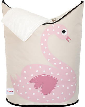 3 Sprouts Laundry Hamper Swan - No more mess, and lots of cuteness! Toy Storage Boxes
