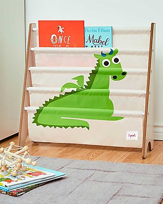 3 Sprouts Montessori Front Facing Book Rack - Green Dragon Bookcases
