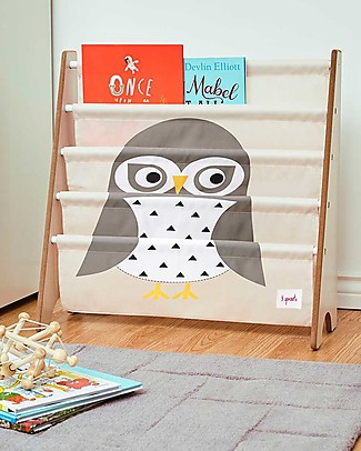 3 Sprouts Montessori Front Facing Book Rack - Grey Owl Bookcases