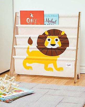 3 Sprouts Montessori Front Facing Book Rack - Yellow Lion Bookcases