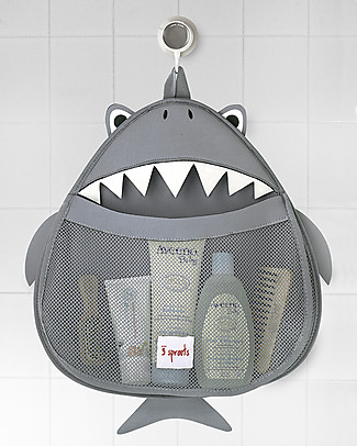 3 Sprouts Shark Bath Storage - 100% Neoprene (protects from mould)! Bath Toys