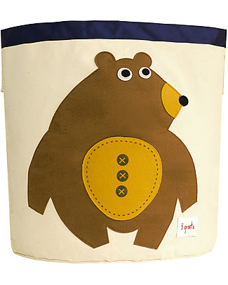 3 Sprouts Storage Bin - Bear - 100% Cotton Toy Storage Boxes