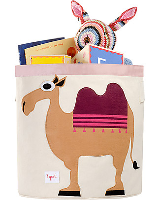3 Sprouts Storage Bin - Camel - 100% Cotton Toy Storage Boxes
