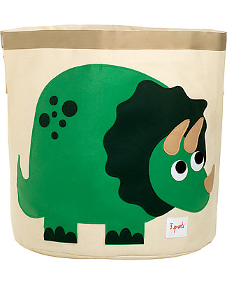 3 Sprouts Storage Bin - Dinosaur - 100% Cotton Toy Storage Boxes