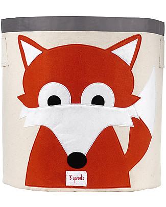 3 Sprouts Storage Bin - Fox - 100% Cotton Toy Storage Boxes