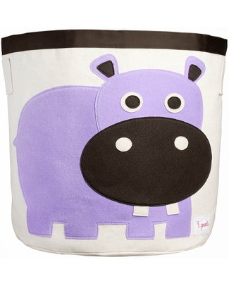 3 Sprouts Storage Bin - Hippo - 100% Cotton Toy Storage Boxes