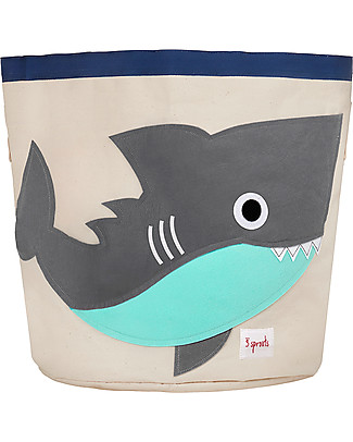3 Sprouts Storage Bin - Shark - 100% Cotton Toy Storage Boxes