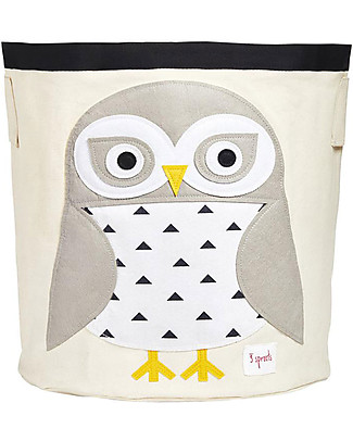 3 Sprouts Storage Bin - Snowy Owl - 100% Cotton Toy Storage Boxes