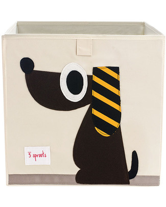 3 Sprouts Storage Box - Dog - Suitable for Ikea Kallax Shelving Units! Toy Storage Boxes