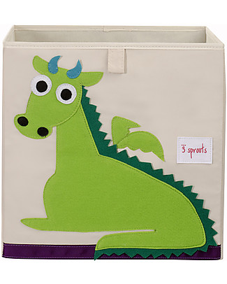 3 Sprouts Storage Box - Dragon - Suitable for Ikea Kallax Shelving Units! Toy Storage Boxes