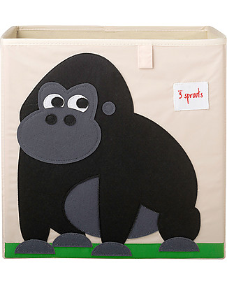 3 Sprouts Storage Box - Gorilla - Suitable for Ikea Kallax shelving units! Toy Storage Boxes