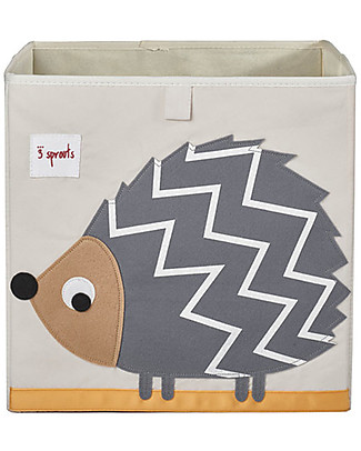 3 Sprouts Storage Box - Hedgehog - Suitable for Ikea Kallax shelving units! Toy Storage Boxes