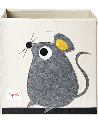 3 Sprouts Storage Box - Mouse - Suitable for Ikea Kallax shelving units! Toy Storage Boxes