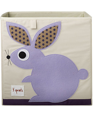 3 Sprouts Storage Box - Rabbit - Suitable for Ikea Kallax shelving units! Toy Storage Boxes