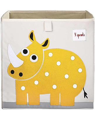 3 Sprouts Storage Box - Rhino - Suitable for Ikea Kallax Shelving Units! Toy Storage Boxes
