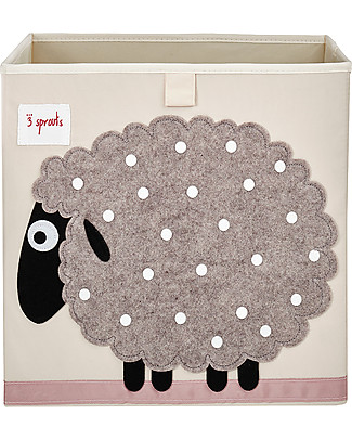 3 Sprouts Storage Box - Sheep - Suitable for Ikea Kallax shelving units! Toy Storage Boxes
