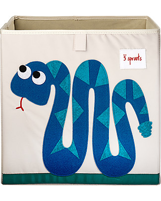 3 Sprouts Storage Box - Snake - Suitable for Ikea Kallax Shelving Units! Toy Storage Boxes