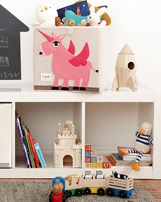 3 Sprouts Storage Box - Unicorn - Suitable for Ikea Kallax Shelving Units! Toy Storage Boxes