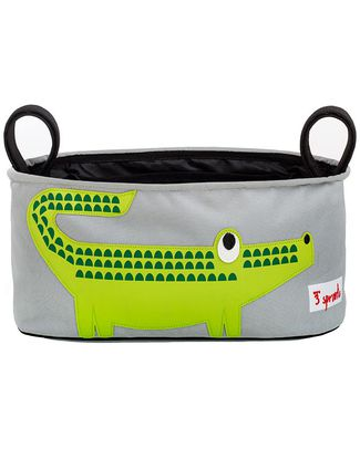 3 Sprouts Stroller Organizer - Crocodile – Suitable for all Strollers! Stroller Accessories