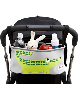 3 Sprouts Stroller Organizer - Crocodile - Suitable for all Strollers! Stroller Accessories