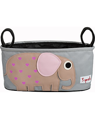 3 Sprouts Stroller Organizer - Elephant – Suitable for all Strollers! Stroller Accessories