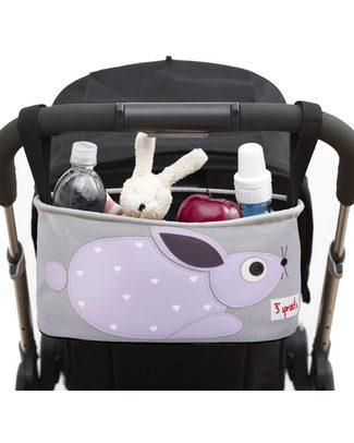 3 Sprouts Stroller Organizer - Rabbit – Suitable for all Strollers! Stroller Accessories