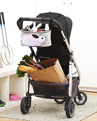 3 Sprouts Stroller Organizer - Rabbit - Suitable for all Strollers! Stroller Accessories