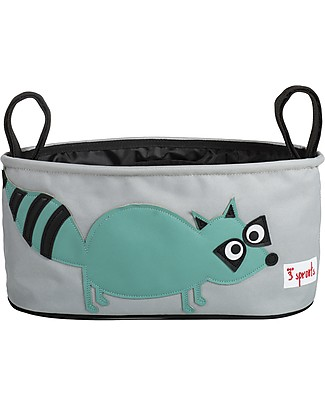 3 Sprouts Stroller Organizer - Raccoon - Suitable for all Strollers! Stroller Accessories