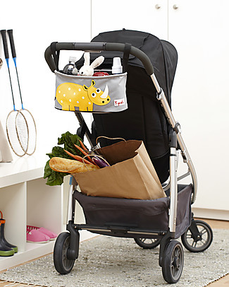 3 Sprouts Stroller Organizer - Rhino - Suitable for all Strollers! Stroller Accessories
