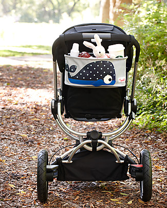 3 Sprouts Stroller Organizer - Whale - Suitable for all Strollers! Stroller Accessories