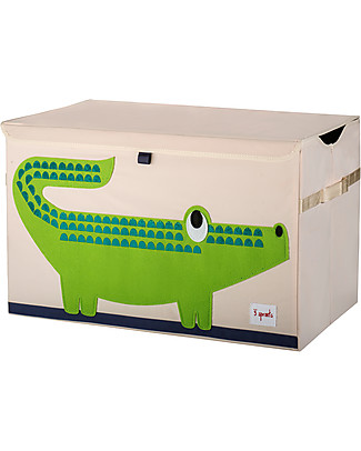 3 Sprouts Toy Chest - Crocodile - Clean the Bedroom with Imagination Toy Storage Boxes