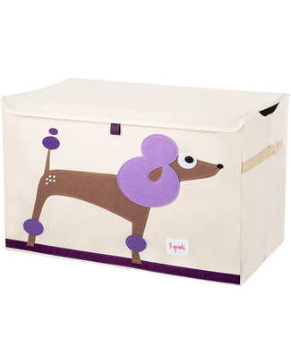 3 Sprouts Toy Chest - Dog - Clean the Bedroom with Imagination Toy Storage Boxes